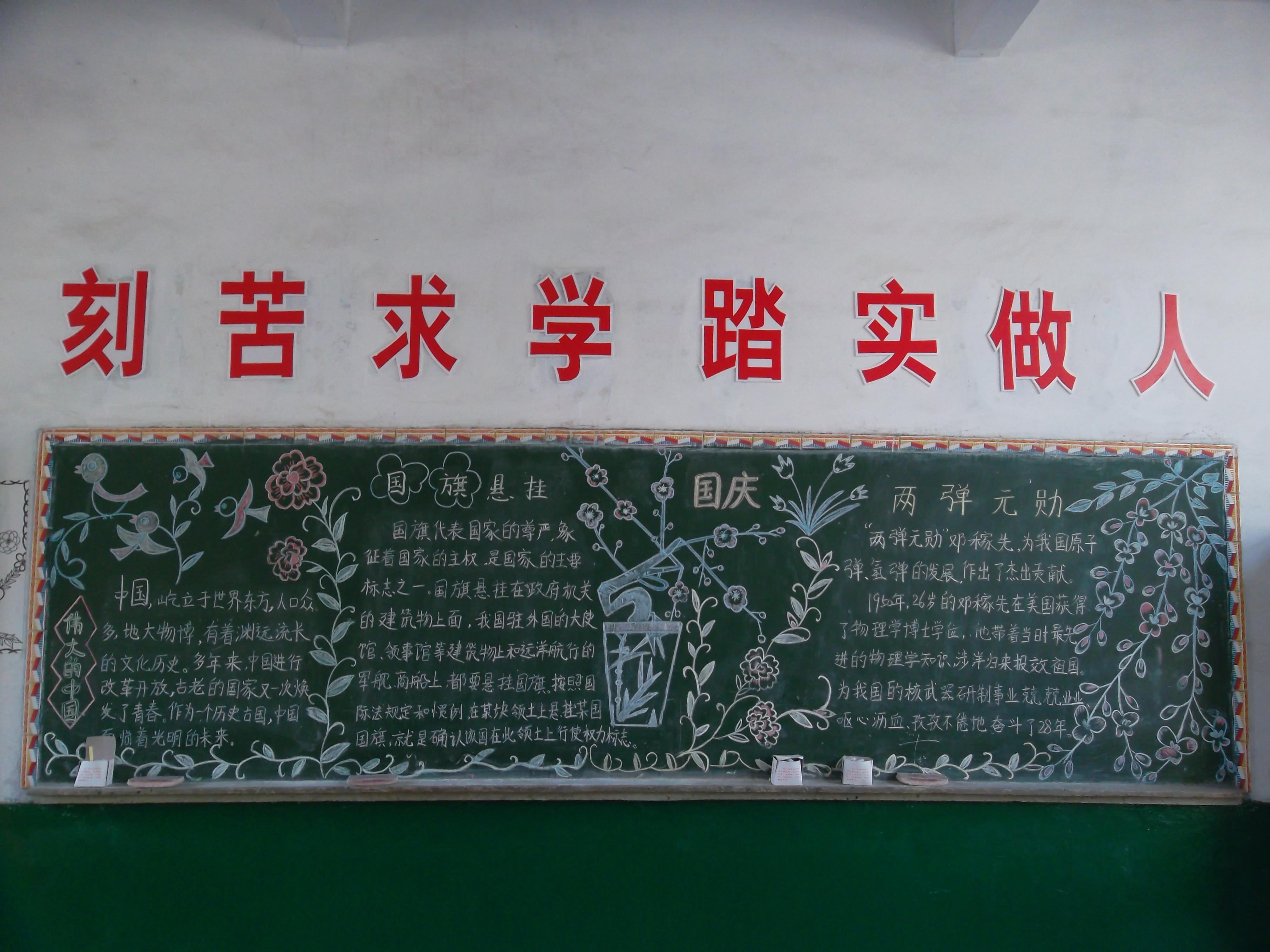 庆国庆黑板报 - 案例上传