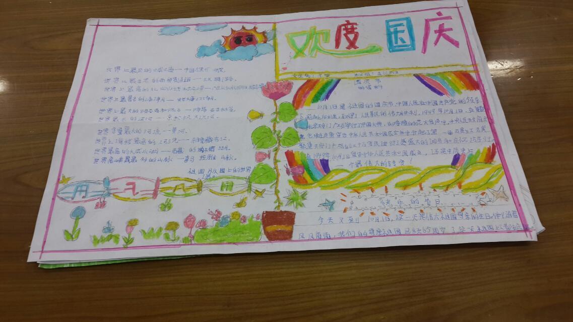 国庆手抄报 - 美丽中国,红领巾社会实践活动 - 活动