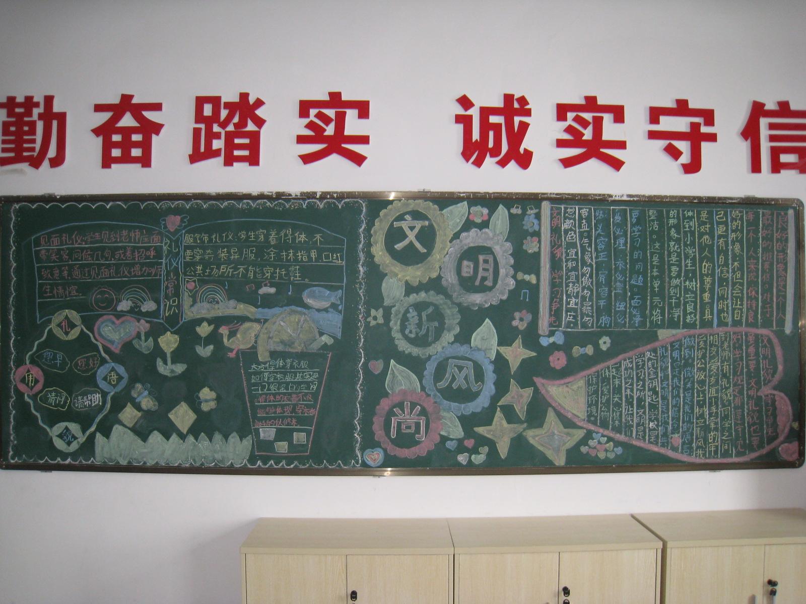 文明礼仪主题黑板报