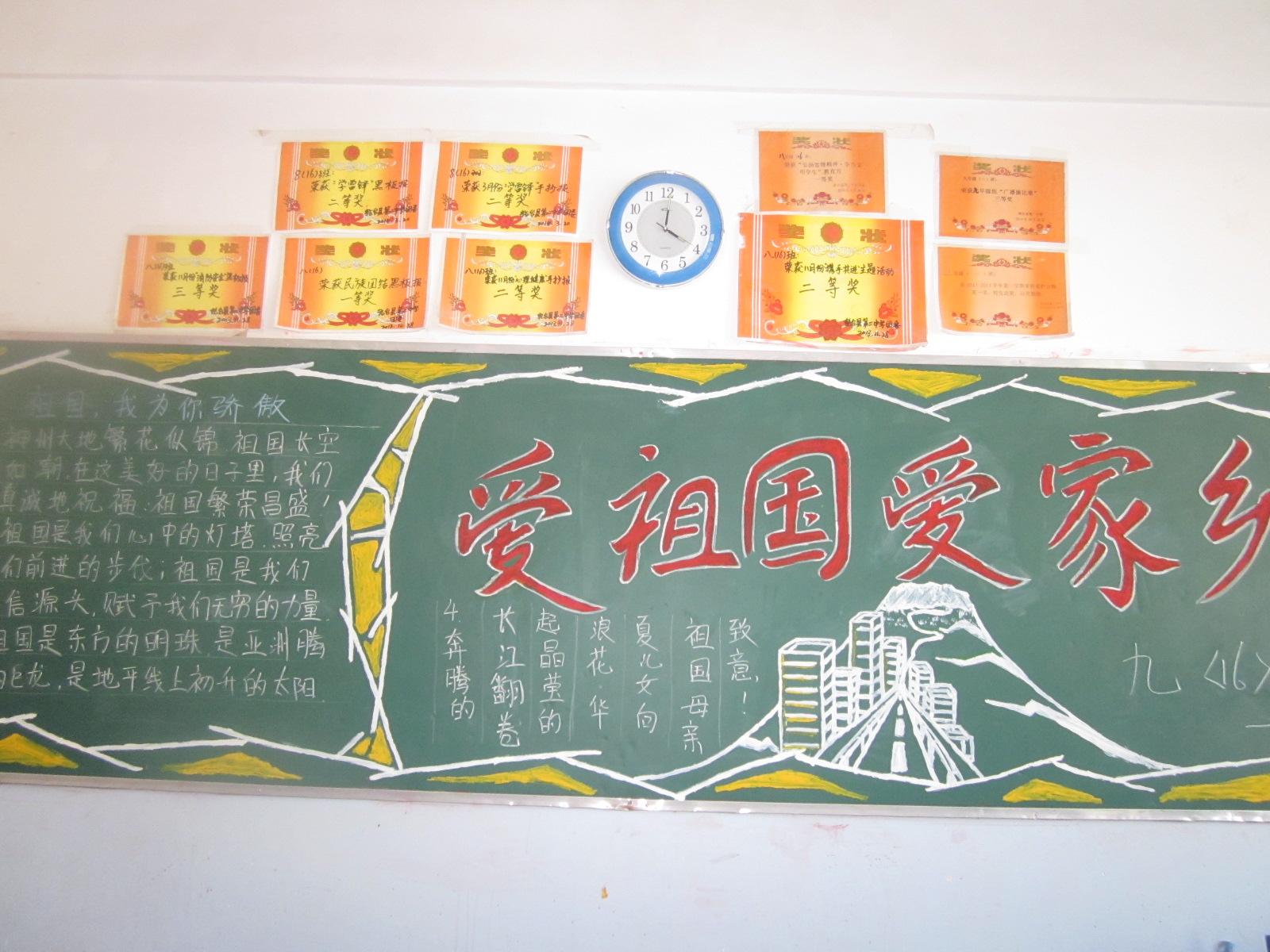 轮台县第二中学开展纪念12.9爱国主义黑板报比赛图片