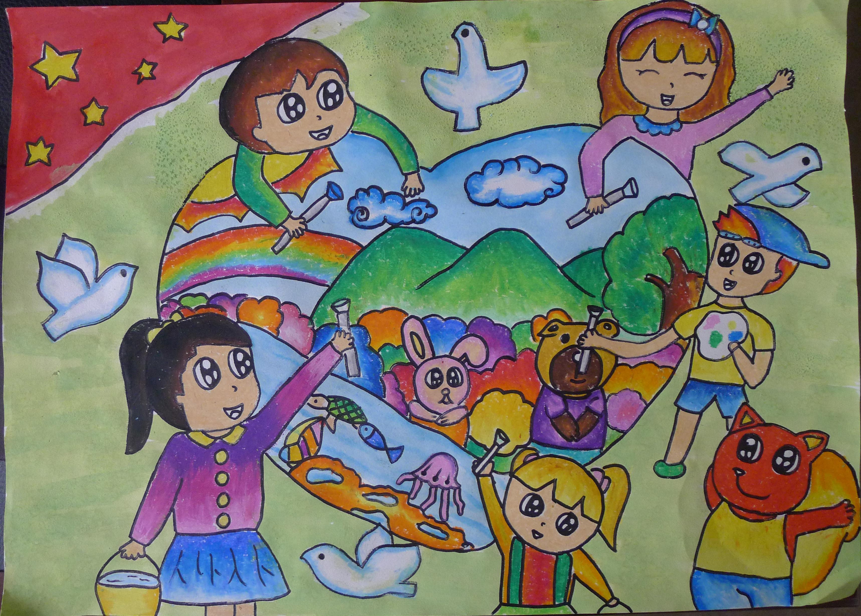儿童描绘图片素材