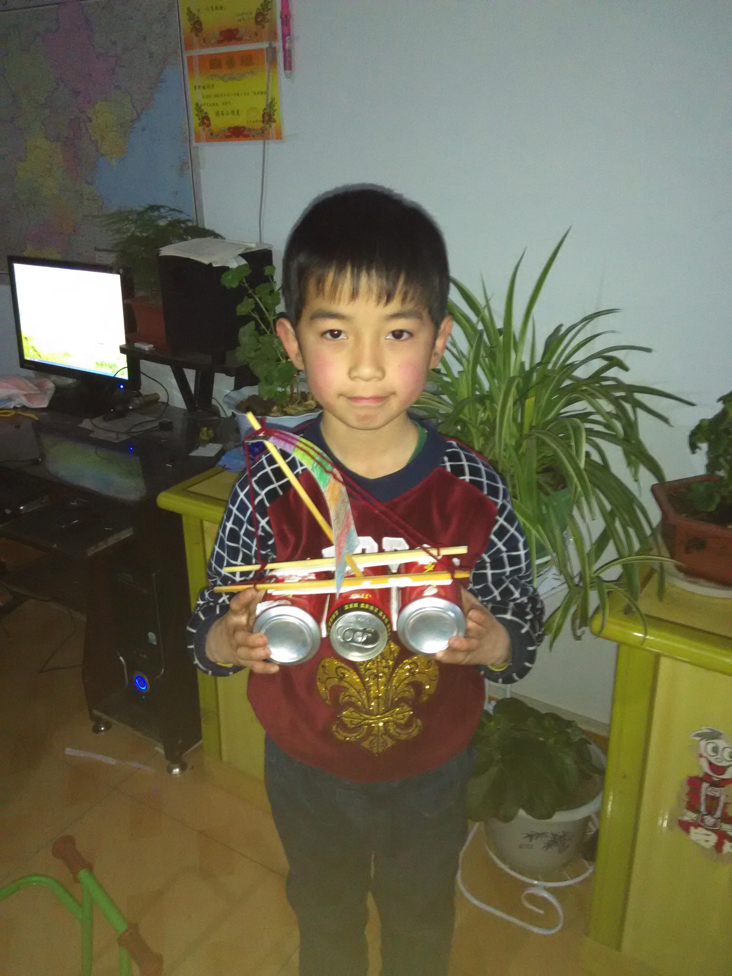 易拉罐手工制作小帆船