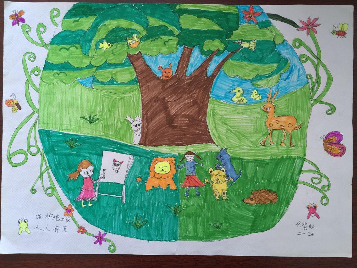 幼儿画动物王国