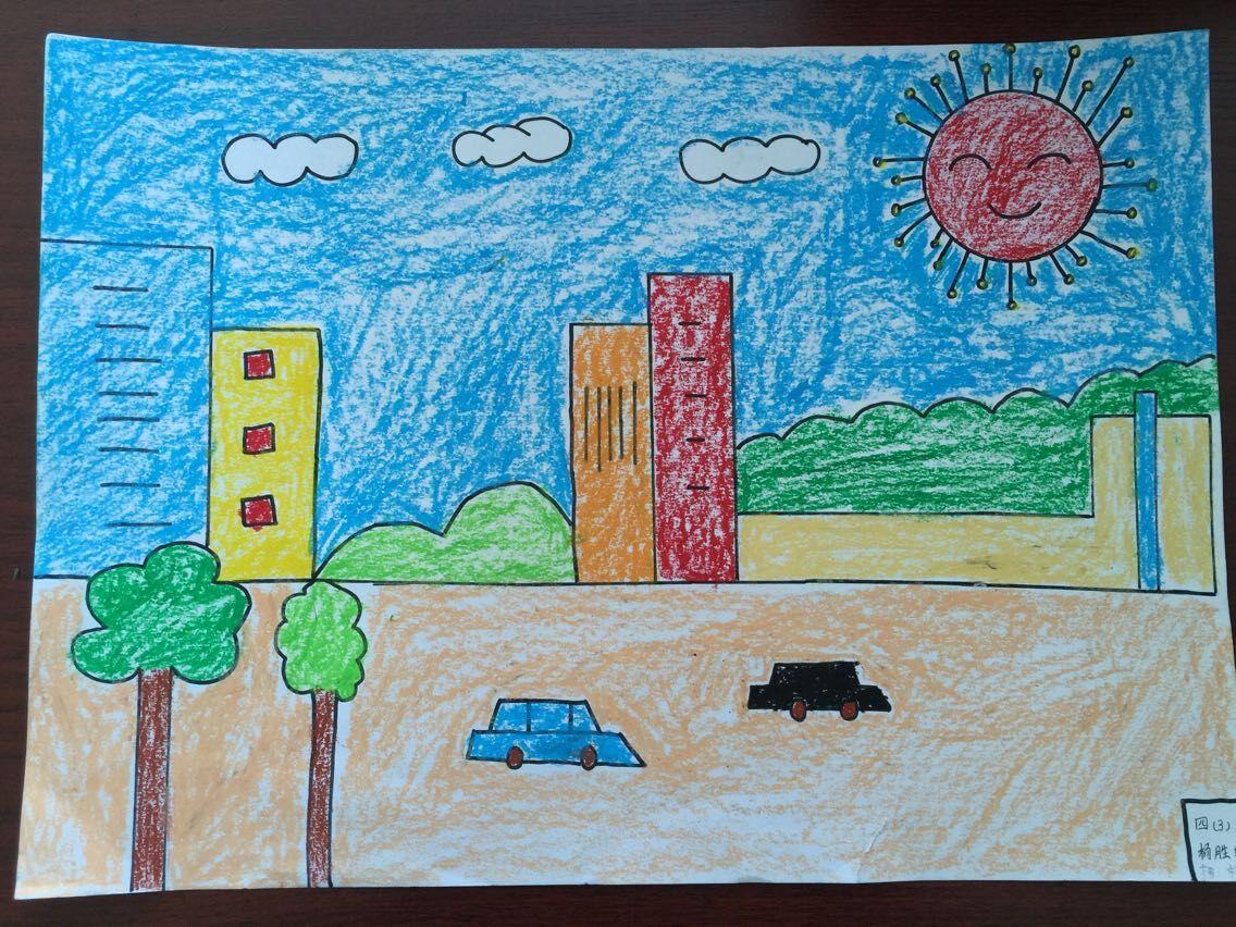 繁华的街道儿童画_繁华的街道儿童画分享展示