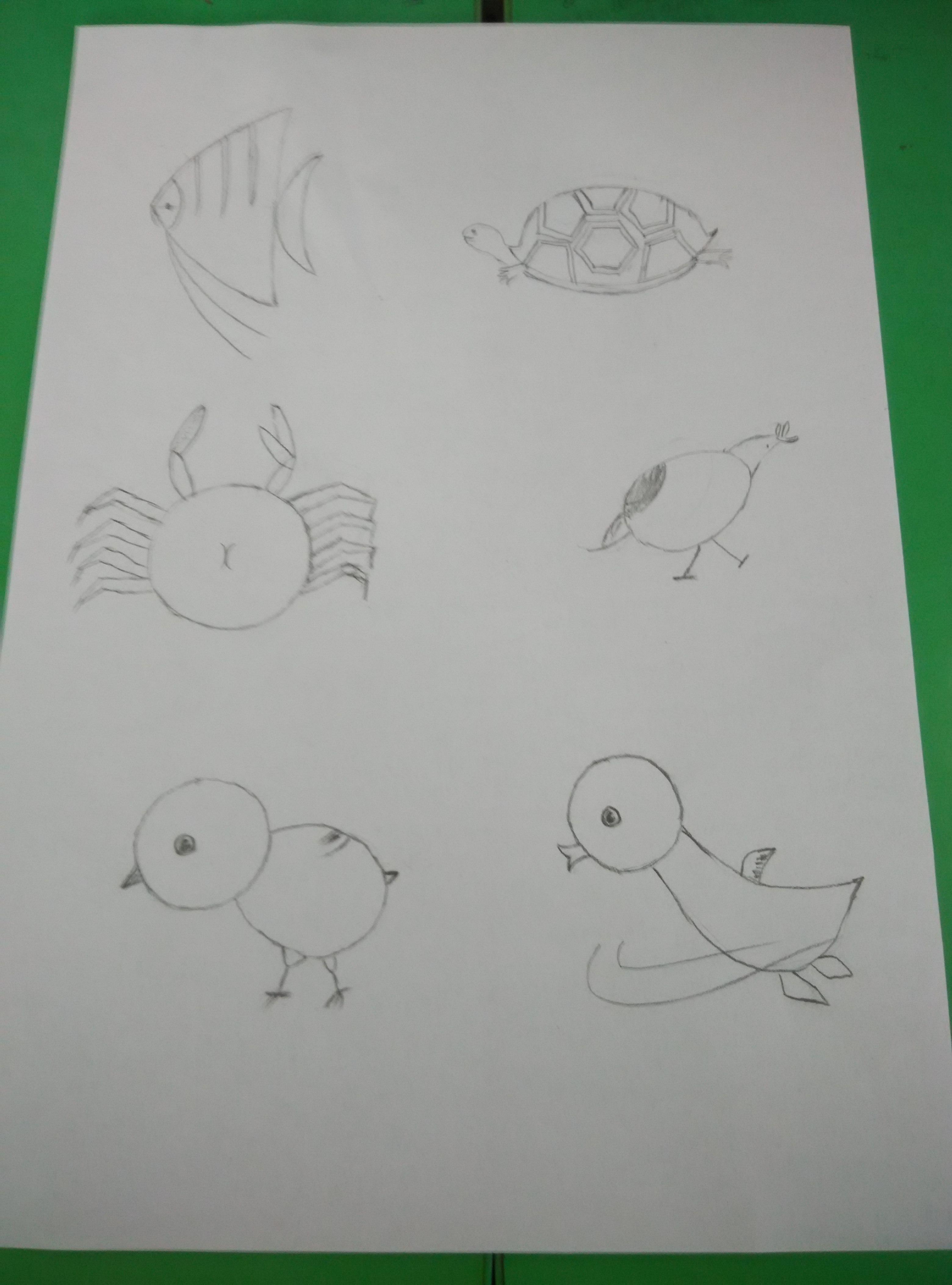 盘古学区大盘古少先队 学习简笔画