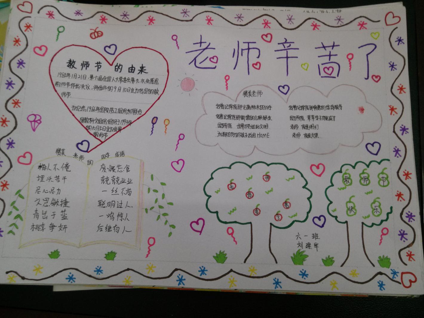 庆祝教师节主题手抄报比赛作品