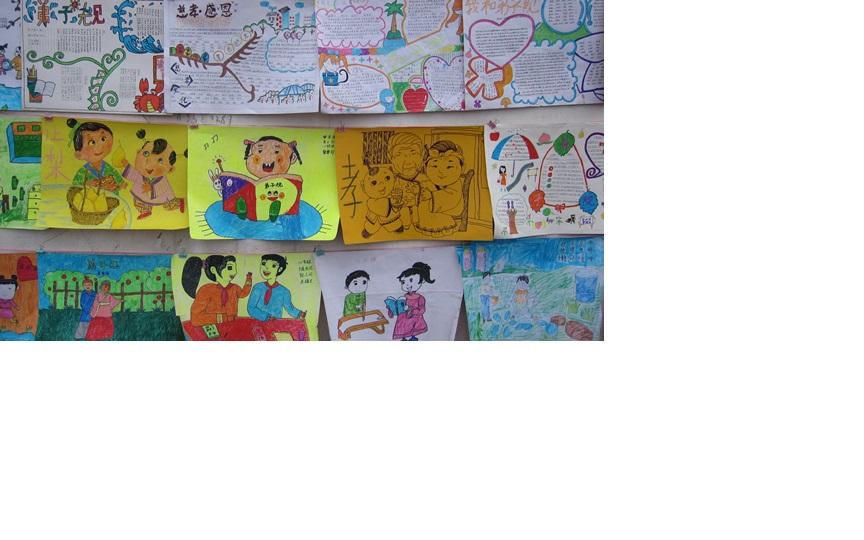 弟子规手抄报 及 绘画 作品 各地中小学开学典礼图片