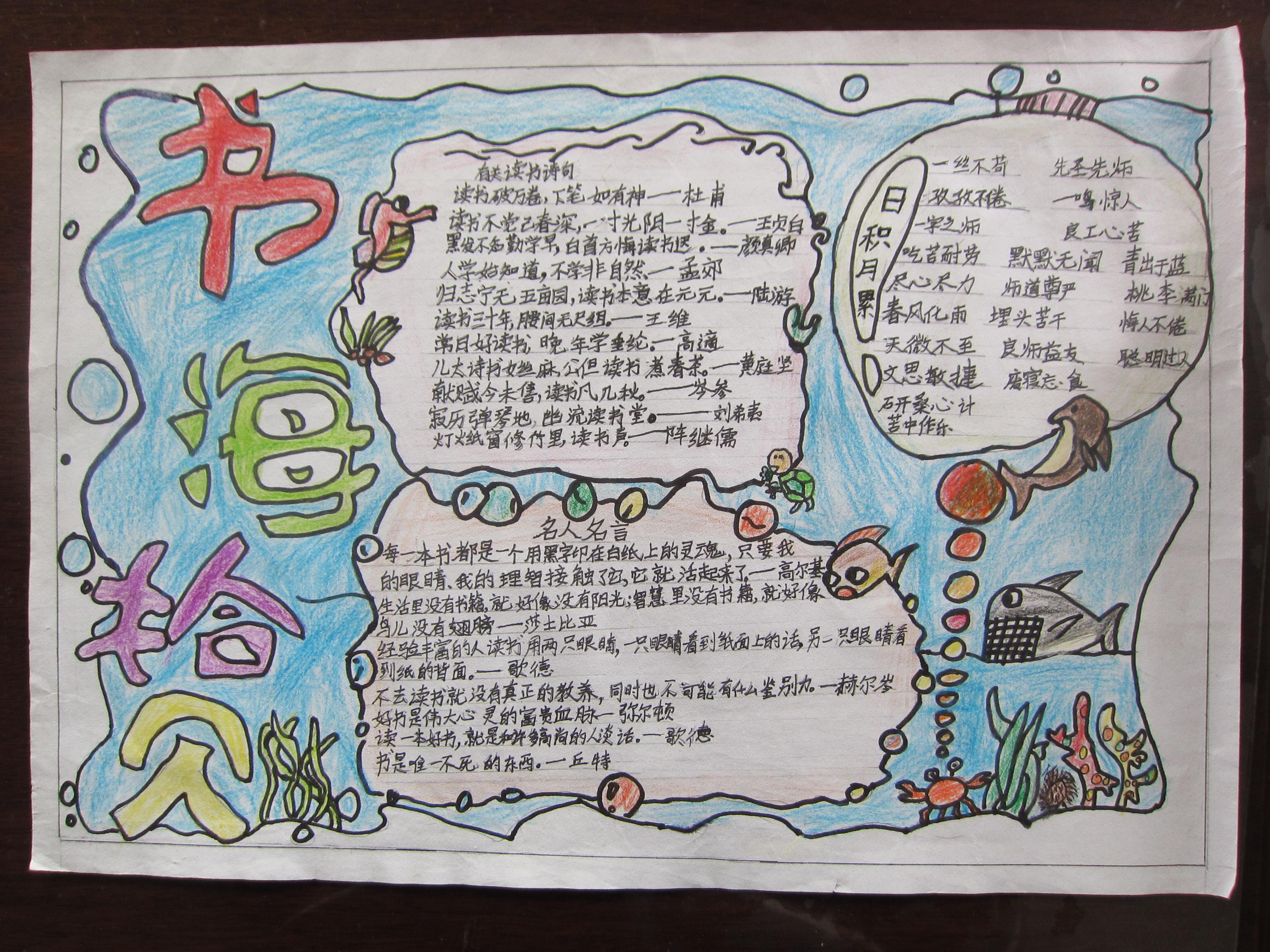 埭里小学终身读书系列报道 读书手抄报设计大赛