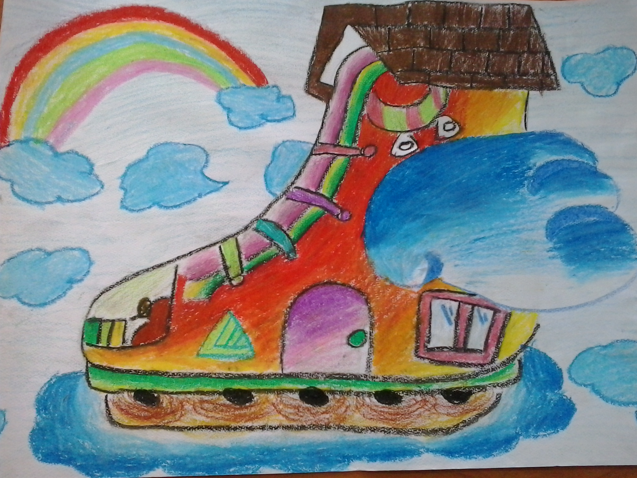 儿童画全国一等奖图片-科幻画大全一等奖图片-三年级画画一等奖作品图片