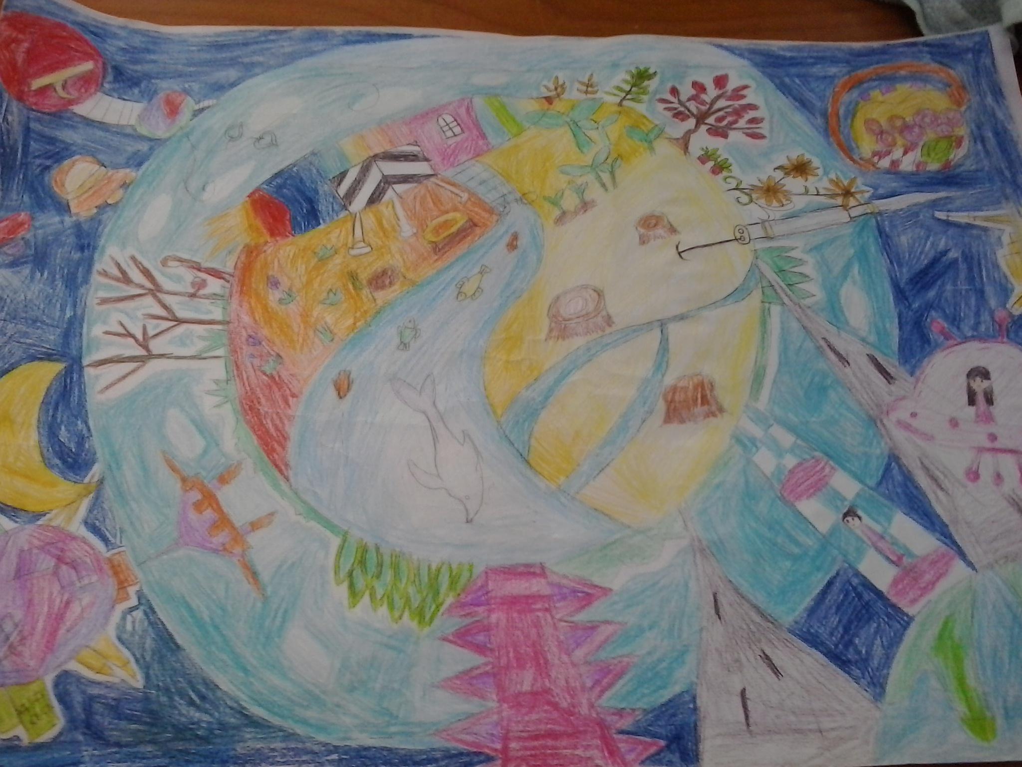 科学幻想画 2014年少年儿童媒介素养教育活动 活动 未来网红领巾集结图片