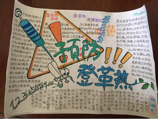 """显应小学举行""""预防登革热""""手抄报比赛"""