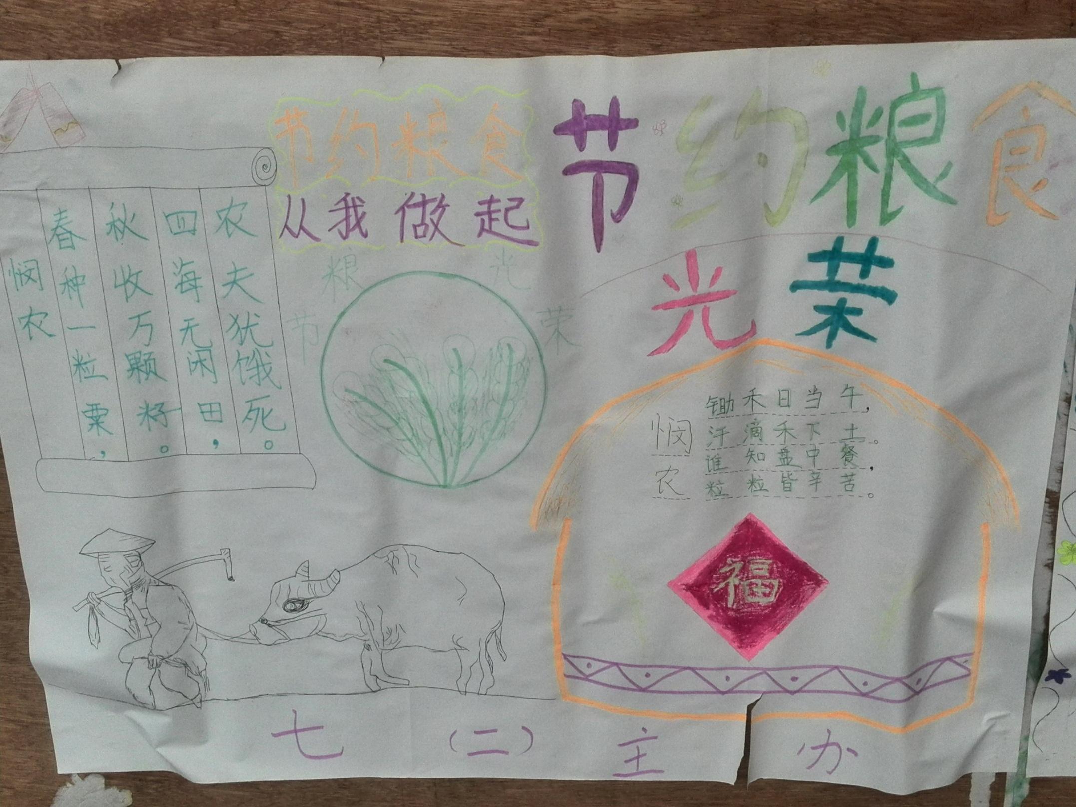 叶县昆阳中学勤俭节约手抄报