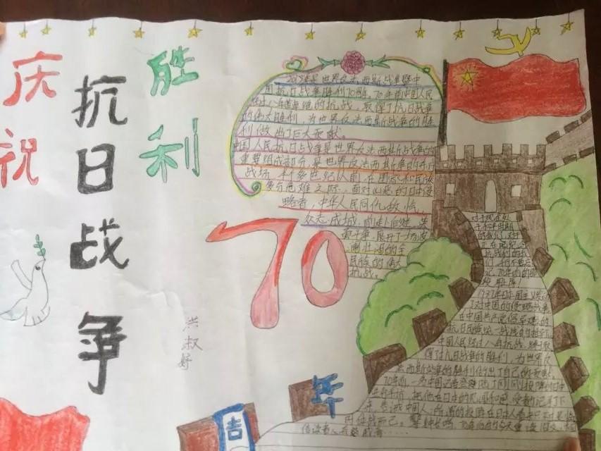 抗战胜利70周年手抄报