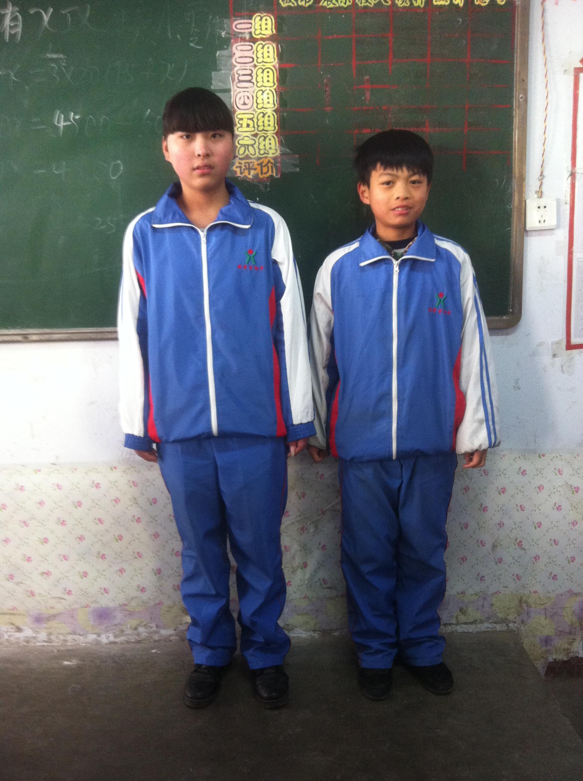 范县希望中学校服图片