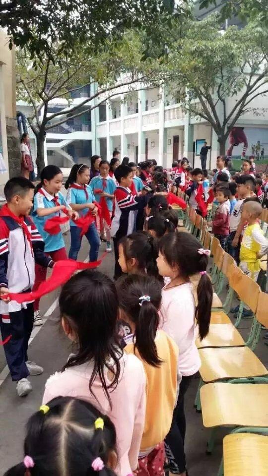 鸿鹤小学新生入队仪式