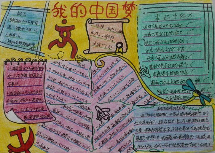 红领巾相约中国梦 手抄报