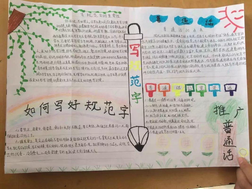 【普通话规范字手抄报】说普通话写规范手抄报_手... _亲亲宝贝网