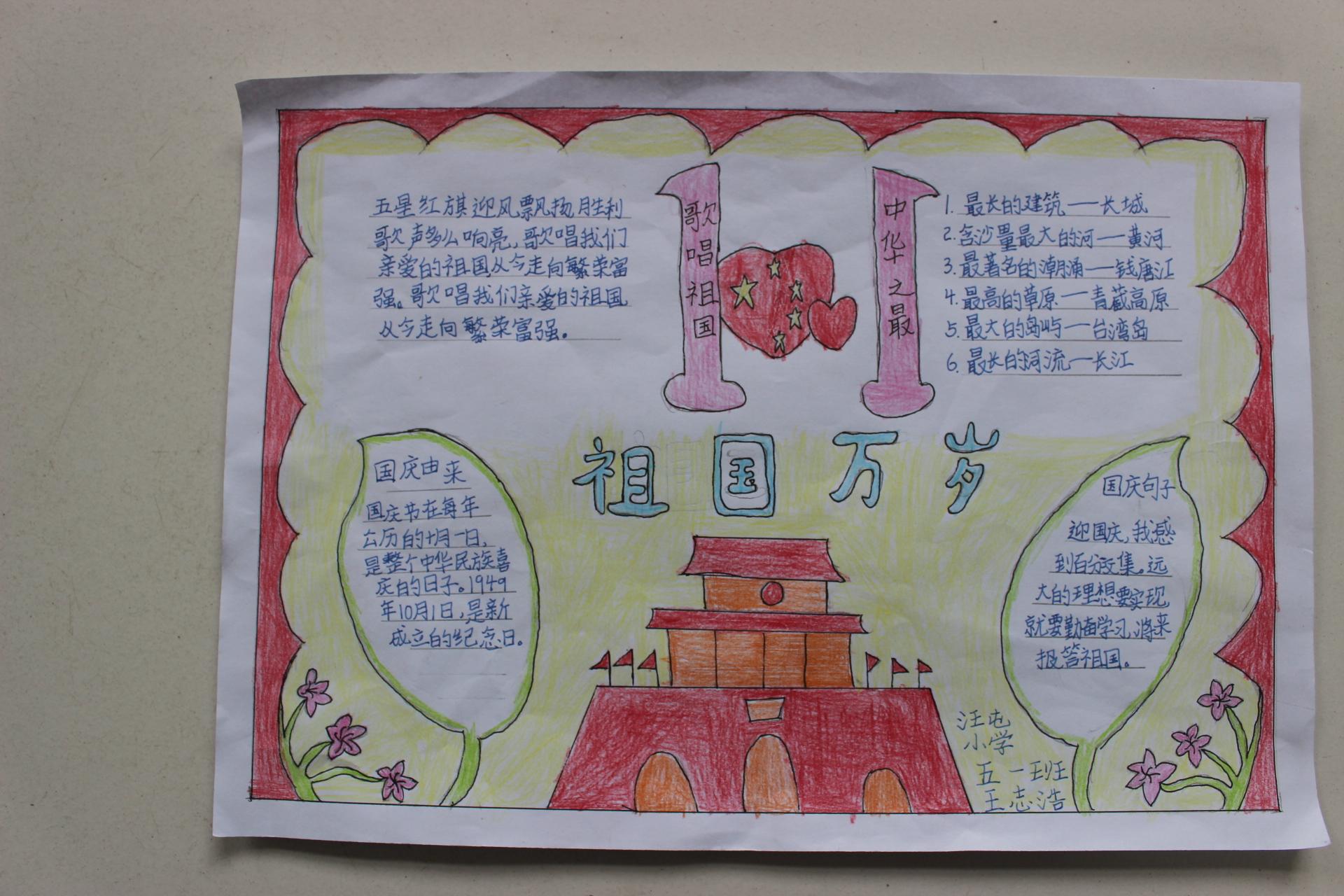 """汪屯小学举行""""我的中国梦""""绘画,手抄报比赛活动"""