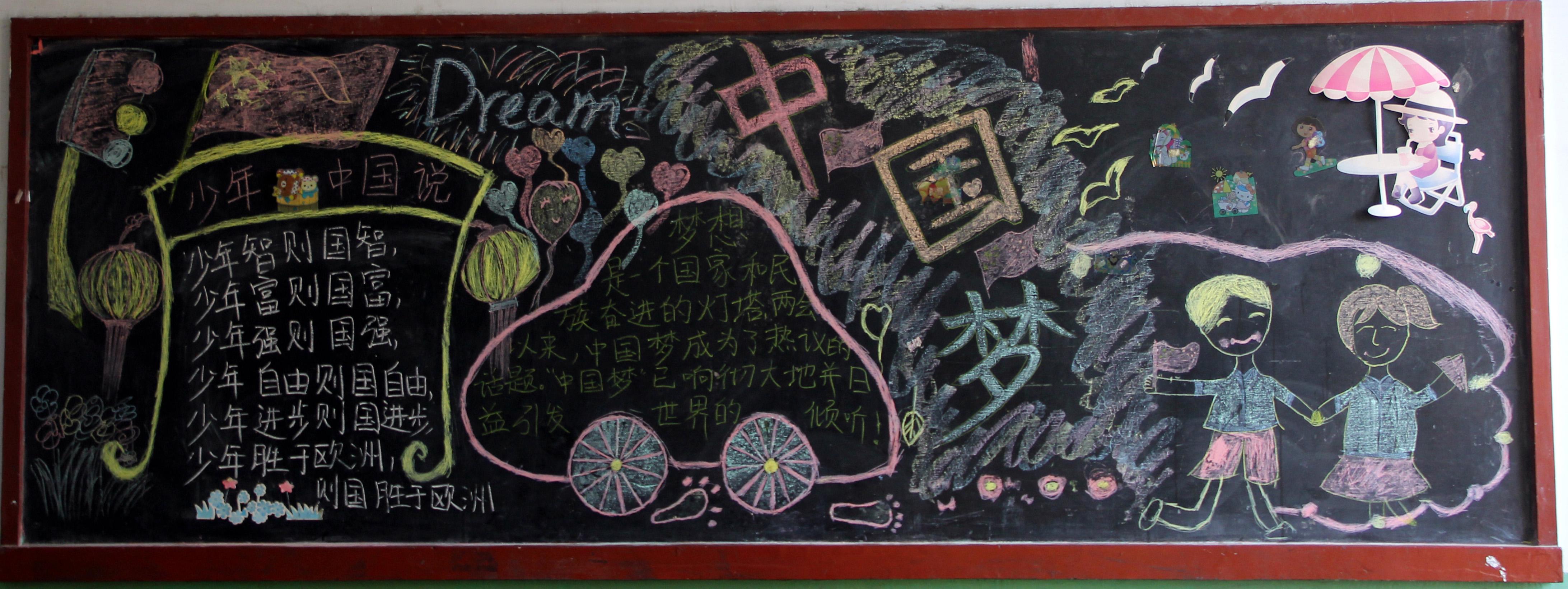 我的梦中国梦黑板报