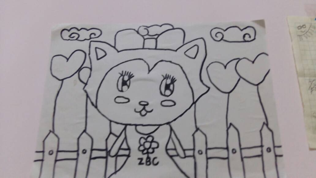 美术社团学生简笔画作品