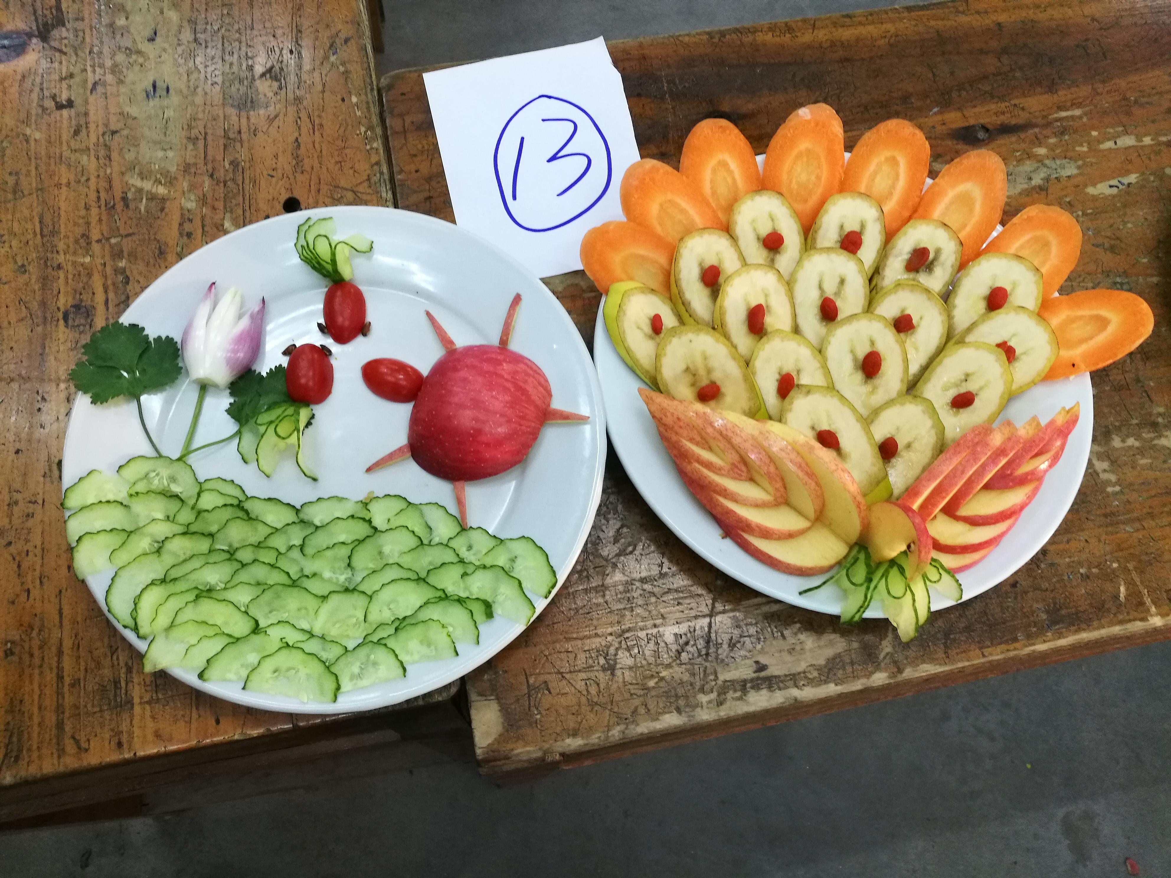创意劳动之水果拼盘大赛