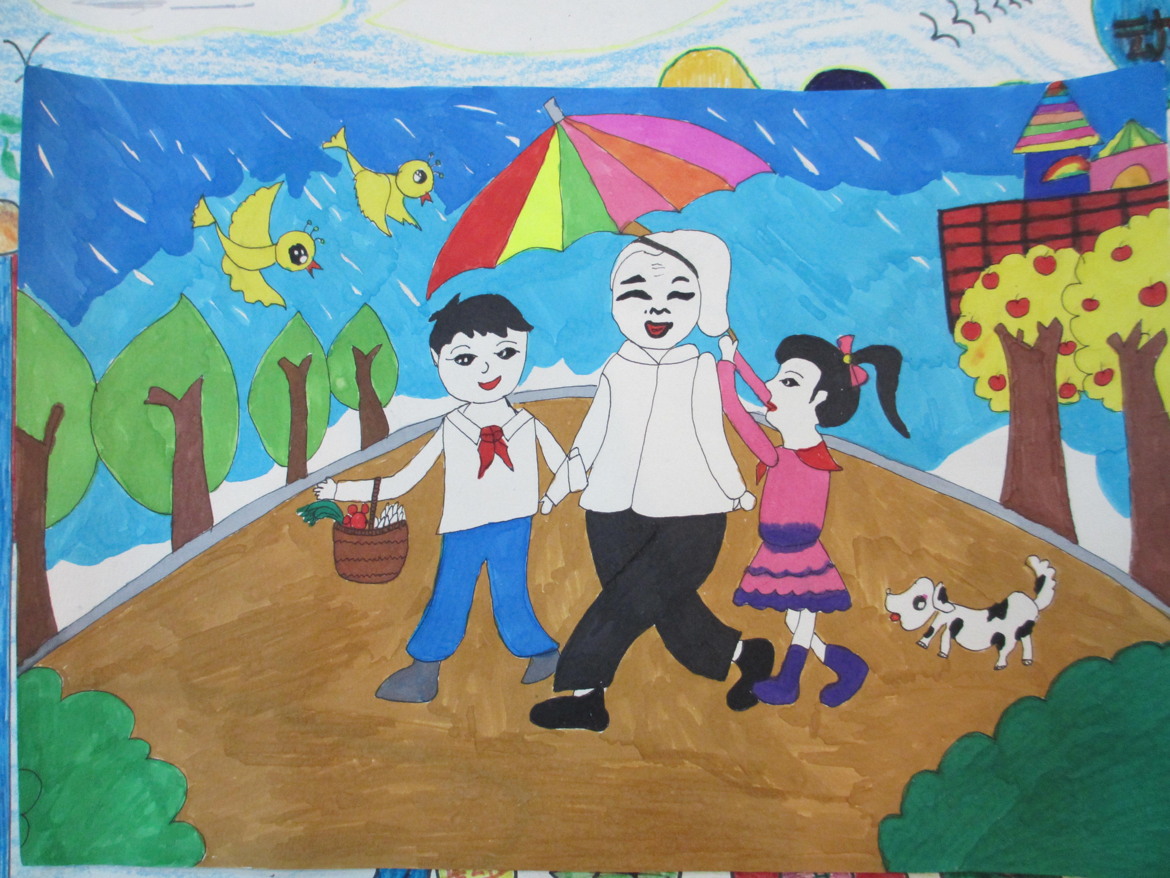 尉犁县第八全国举办红领巾在竞赛绘画、小学2014数学书信初中行动图片