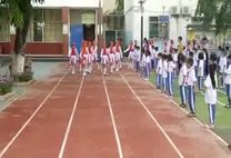 三亚市第五小学2017年女子国旗队