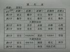 四年(2)班课程表