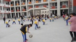 河南省油田第三小学二年级拍球比赛