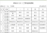 滨海九小16~17学年度班级课表