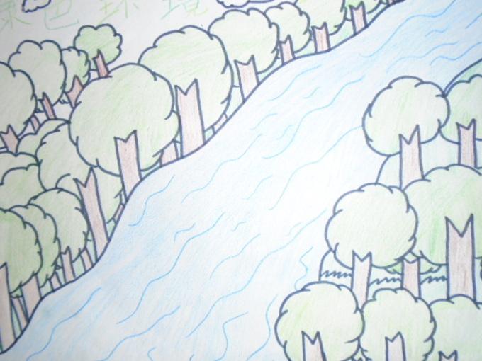 如果河流旁边没有绿树,那河流会多么的浑浊