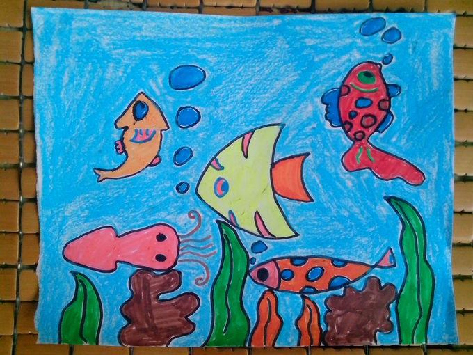 海底教师范画_海底世界