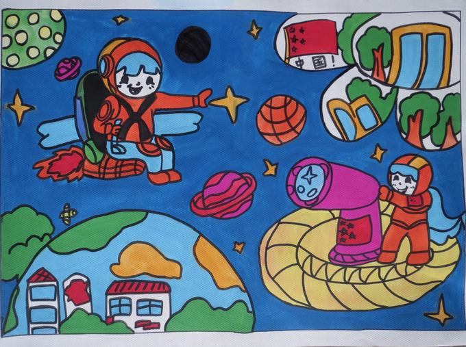 """探索太空 - 红领巾相约中国梦""""—寻找科技创新小博士图片"""
