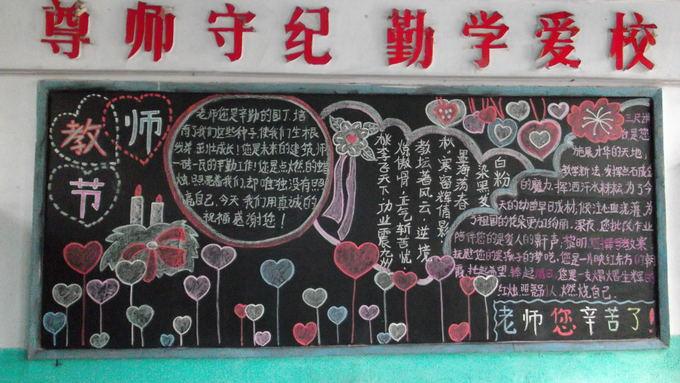 山水梁小学庆祝第29个教师节黑板报图片