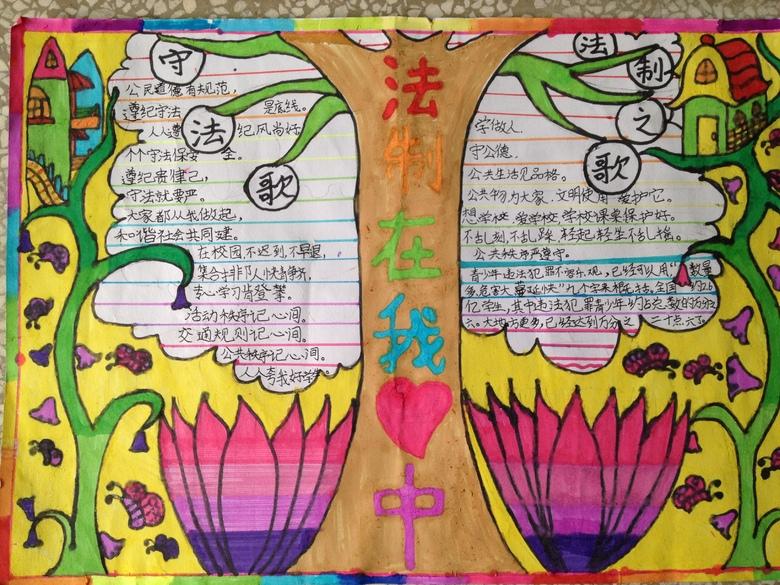 泉州台商投资区百崎中心小学法制教育手抄报 - 课表 -