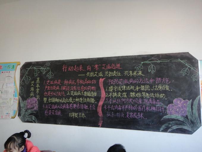 预防艾滋病黑板报四年级