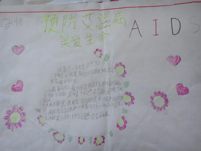 预防艾滋病手抄报1图片