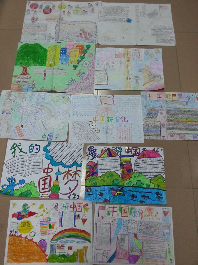 小学 漫游中国未来 手抄报比赛
