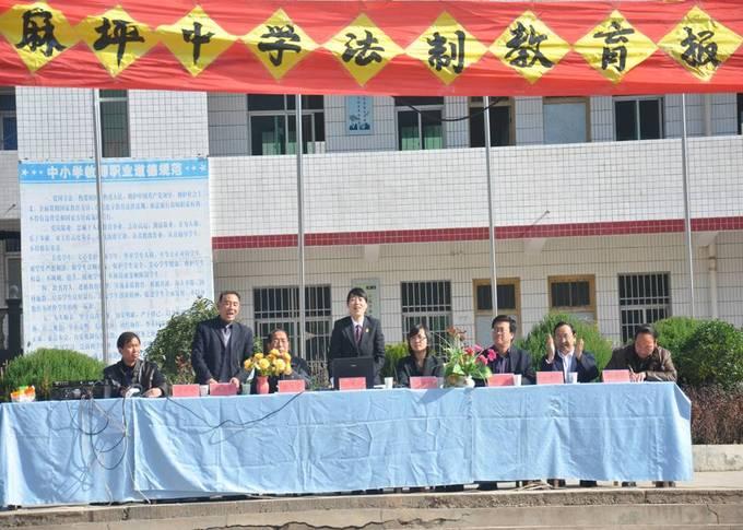 洛南县麻坪中学法制报告会图片