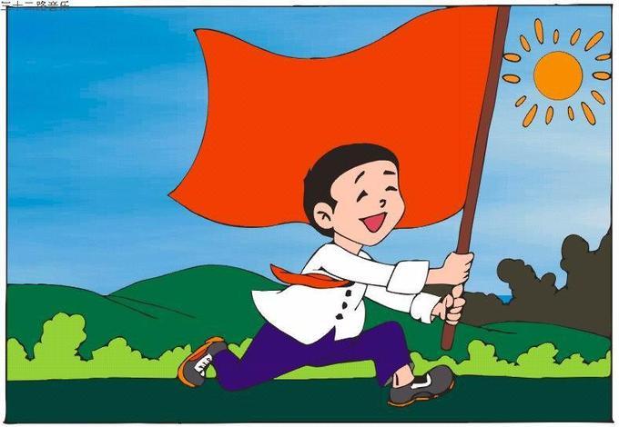 小学生戴红领巾头像男生