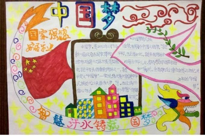 二年级中国梦手抄报